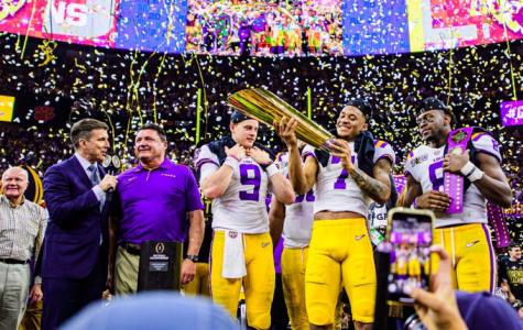 LSU celebrates their championship win