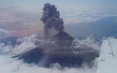 Alaska Volcano Spews High Ash Cloud