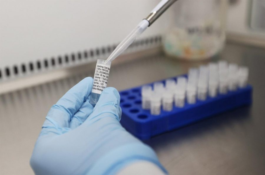 Scientists at Cobra Biologics in Keele, Britain were developing potential COVID-19 vaccine.