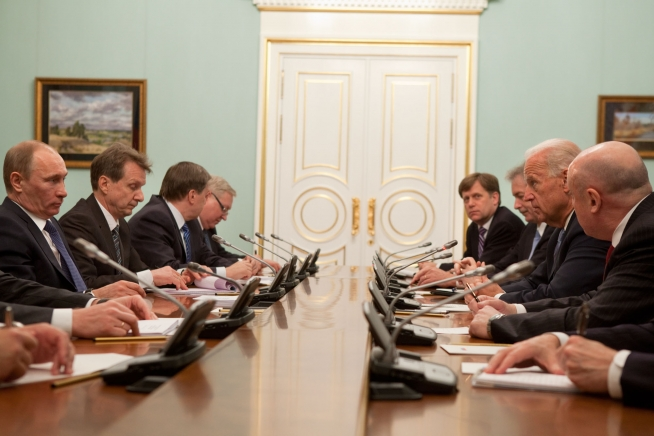 Putin and Biden at a 2011 White House meeting.